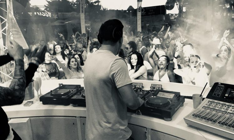 Justin Wilkes at Ocean Beach Closing Party - Ibiza