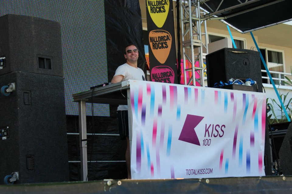 Kiss Pool party at Mallorca Rocks hotel. Justin Wilkes on the decks spinning Kisstory