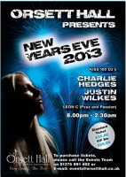 Kisstory DJ Justin Wilkes with Charlie Hedges - NYE at Orsett Hall