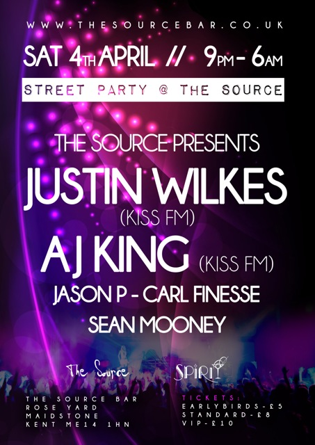 Justin Wilkes launches new residency at Source Bar Maidstone